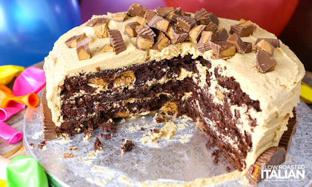 http://www.theslowroasteditalian.com/2015/10/reeses-peanut-butter-cup-extreme-brownie-cake-recipe.html