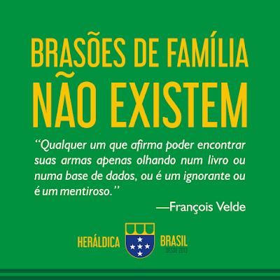 François Velde, sobre Brasões de Família.
