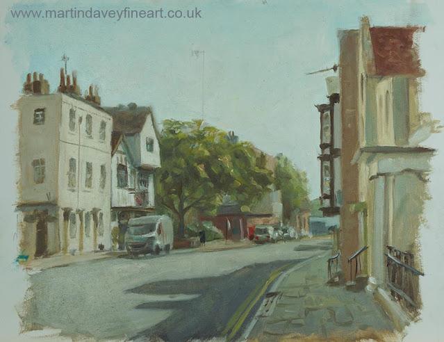 bugle street Southampton painting