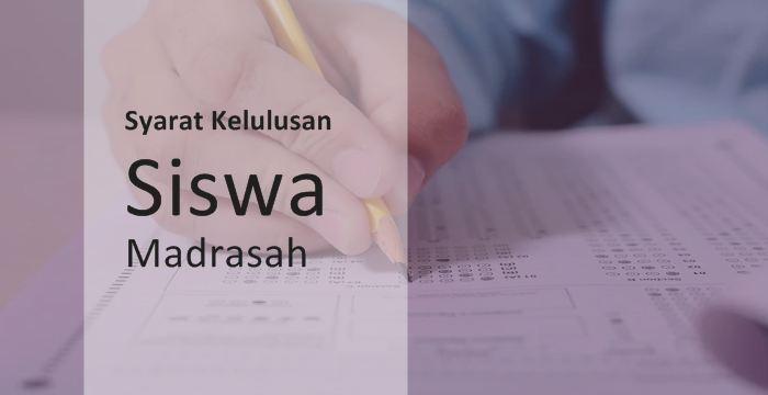 Ujian Akhir Madrasah Berstandar Nasional Ditiadakan, Ini Syarat Kelulusan Siswa Madrasah