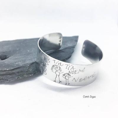 brazalete personalizado plata