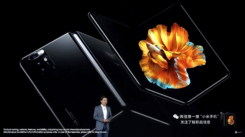 Xiaomi outs Mi MIX FOLD with AMOLED screen, quad stereo speakers, Desktop mode, liquid lens, and Surge C1 image chip!