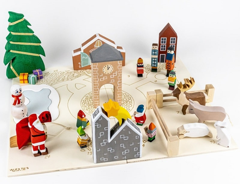 vulps toys wooden christmas advent set