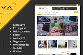 Genova Responsive Blogger Template v.1.1