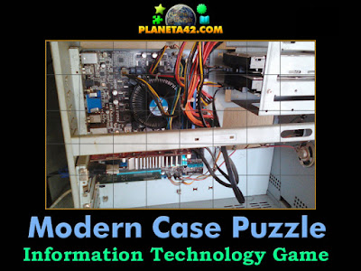 A modern computer case puzzle