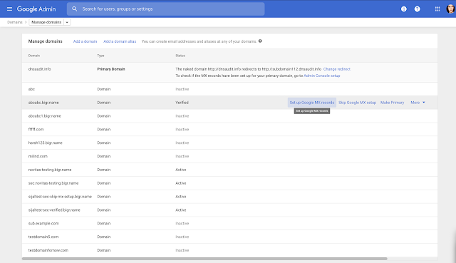 New Interface for G Suite Domain Management in the Admin Console 1