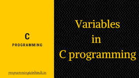 Variable in c in hindi language