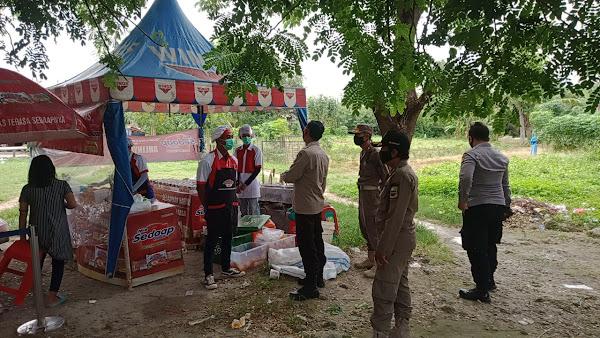 Kegiatan Sampling Produk Makanan Siap Saji  Dibubarkan Gugus Tugas Covid-19 Kecamatan Babelan .