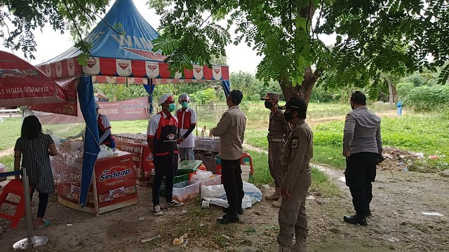 Kegiatan Sampling Produk Makanan Siap Saji  Dibubarkan Gugus Tugas Covid-19 Kecamatan Babelan
