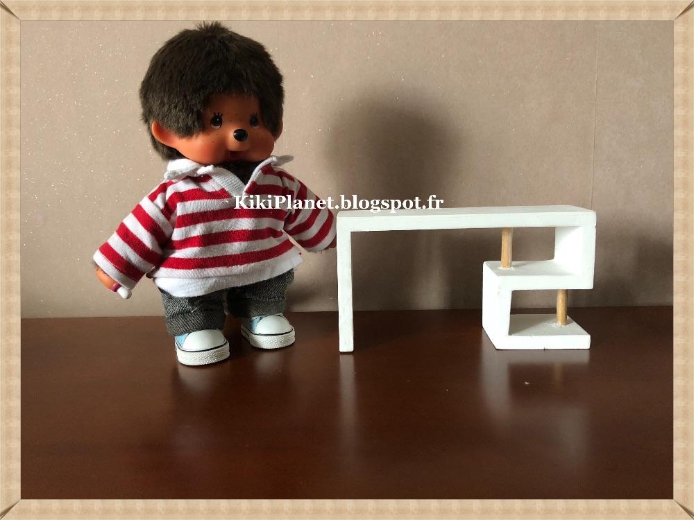 Kiki planet: bureau de style moderne en bois fait main pour kiki ou