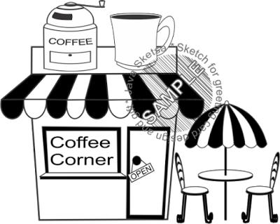 Coffee Corner and Coffee Grinder