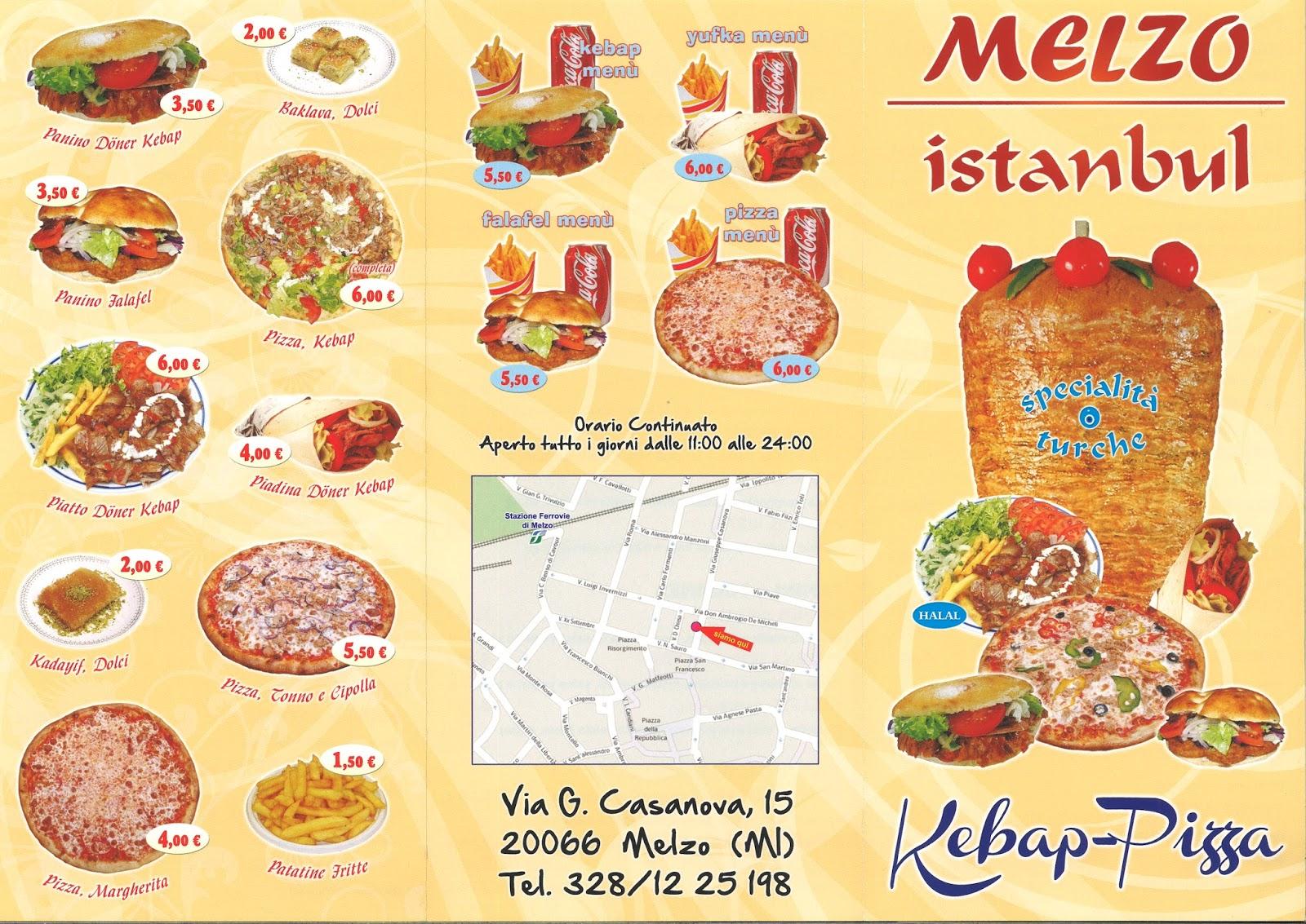A Modo Mio Melzo menu e prezzi: kebap e pizzeria da asporto istanbul kebab