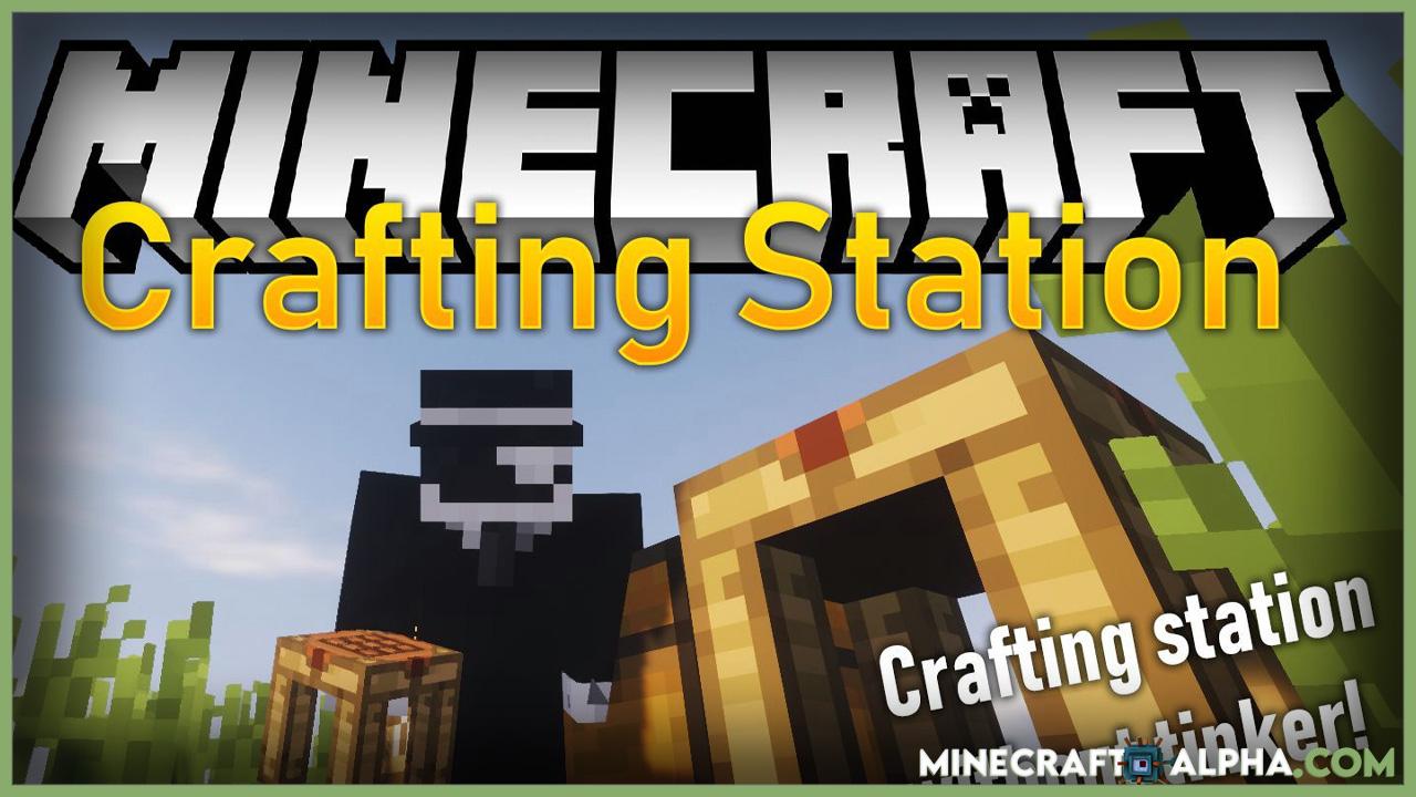 Minecraft Crafting Station Mod 1.16.5