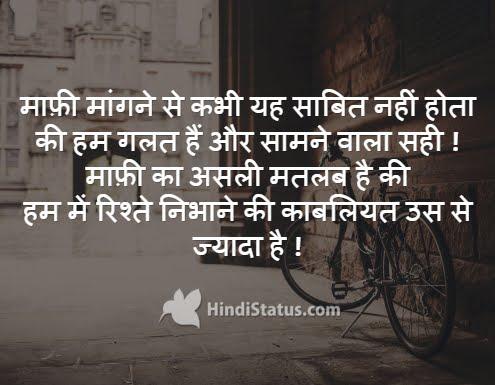 Apology - HindiStatus