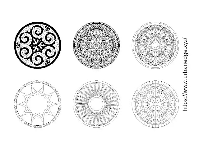 Round decorative pattern cad blocks download - 5+ Dwg CAD Blocks