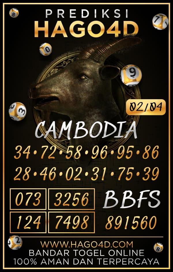 Prediksi Hago4D - Selasa, 2 April 2021 - Prediksi Togel Cambodia