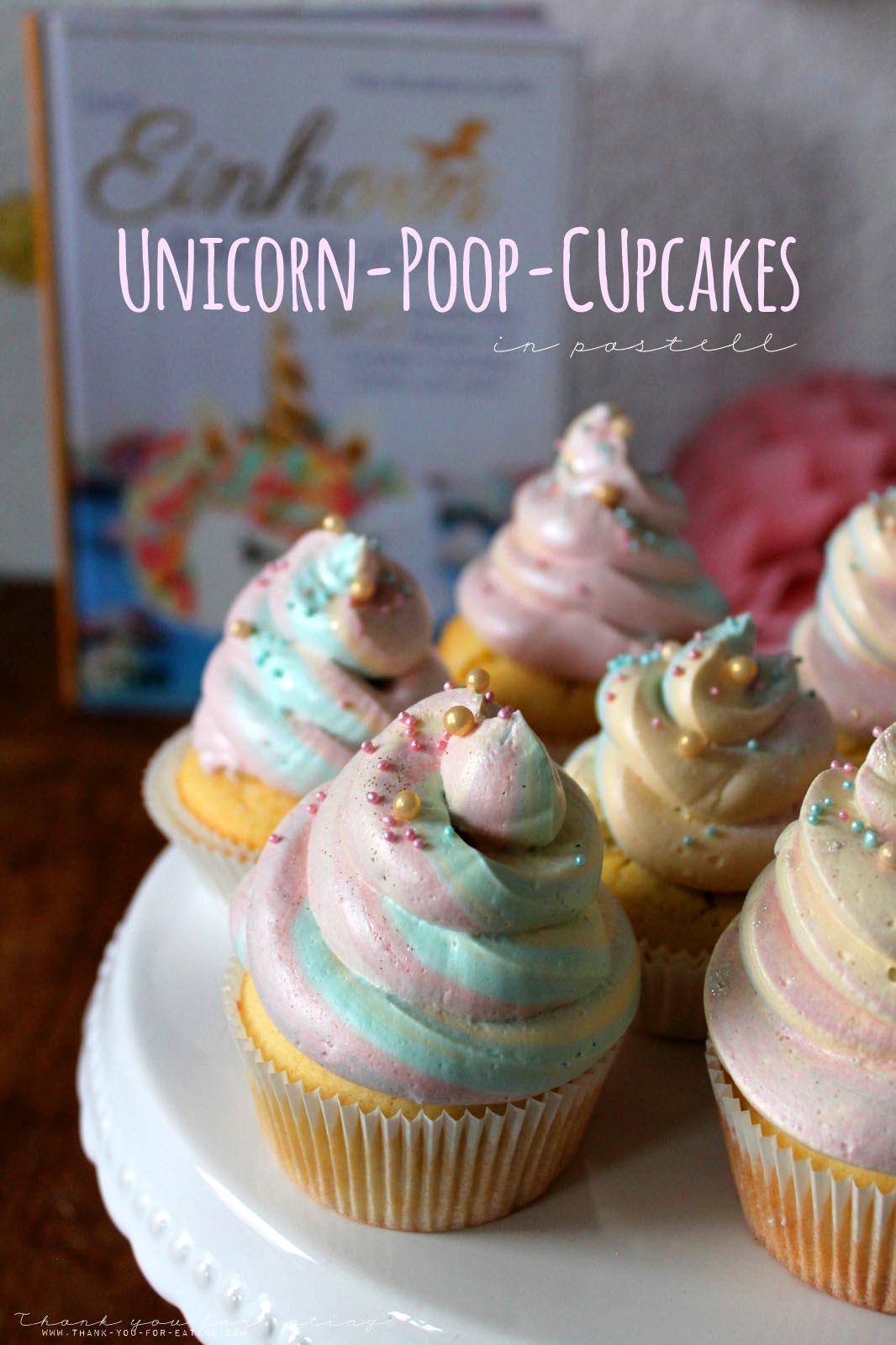 Ein leichtes Rezept für leckere Einhorn-Cupcakes!