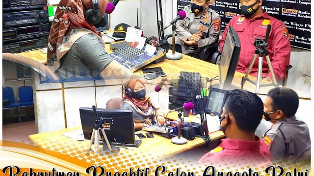 Rekrutmen Proaktif Calon Anggota Polri, Polres Lampung Utara Sosialisasi Melalui Radio Wijaya FM