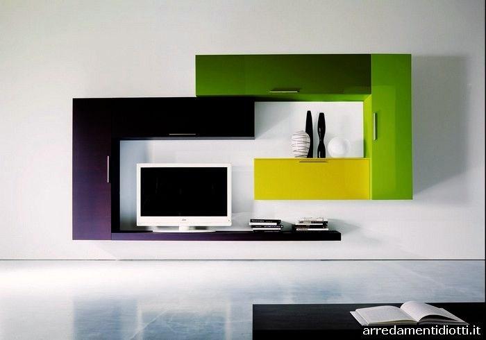Immagini pareti attrezzate moderne for Immagini parete attrezzata
