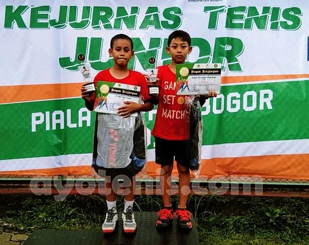 Kejurnas Tenis Yunior Piala Bupati Bogor: Reifan/Fakhri Akbar Sabet Gelar Juara