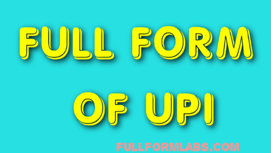 UPI full form