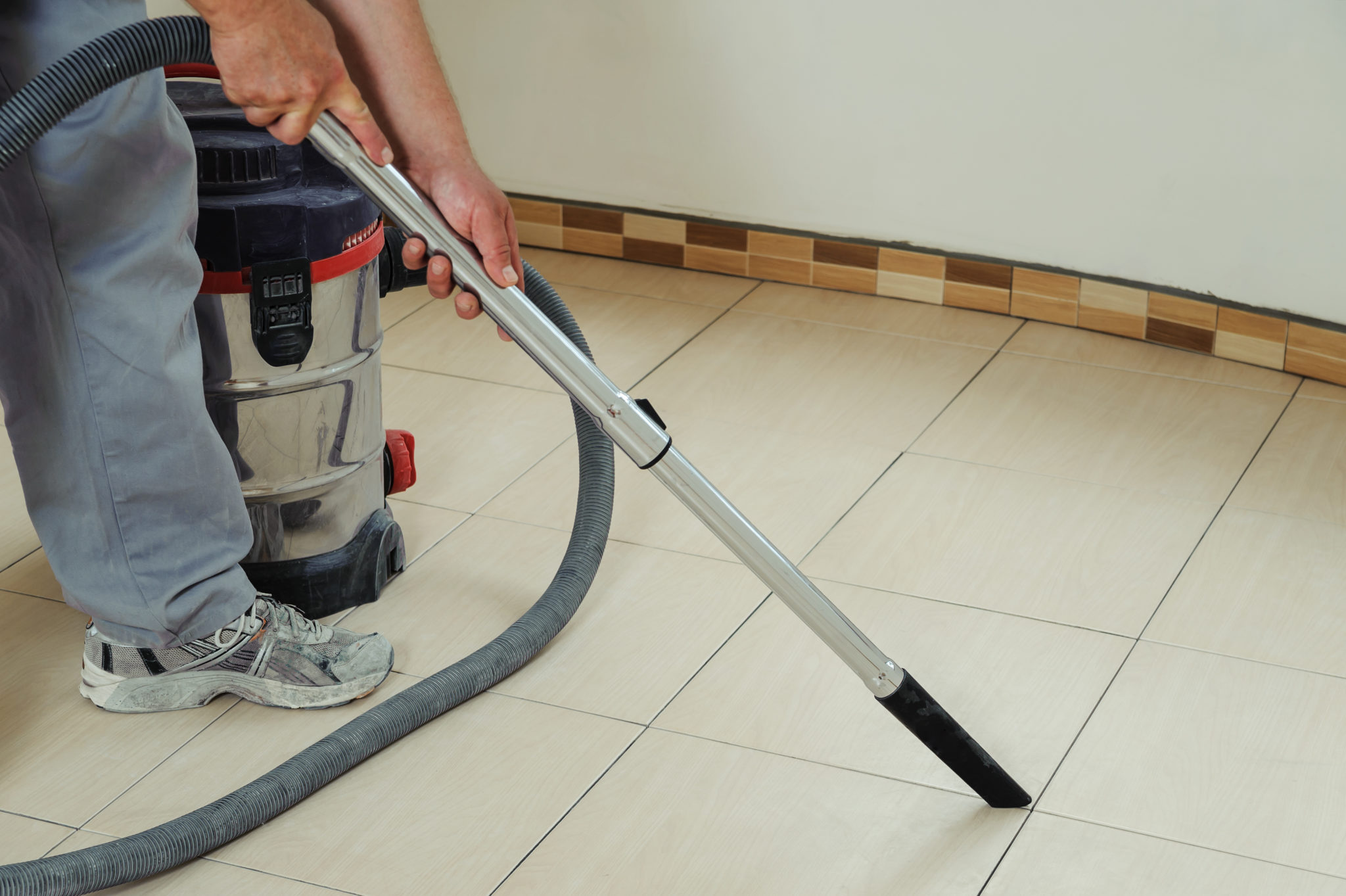 grout colorant remove from bathroom