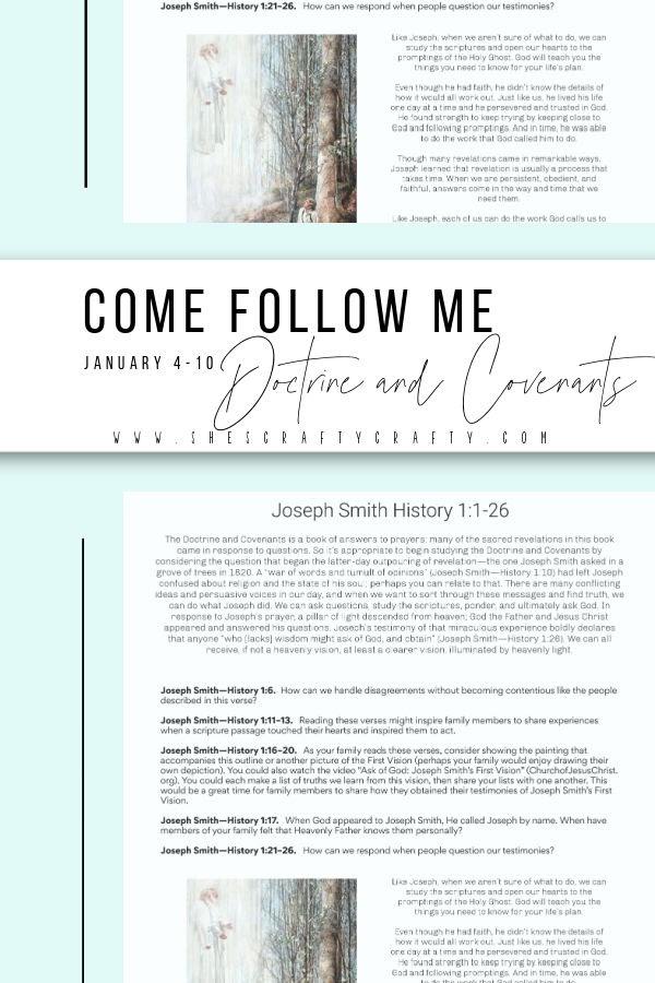 Come Follow Me Joseph Smith History