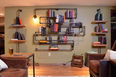 desain kamar dengan gaya industrial