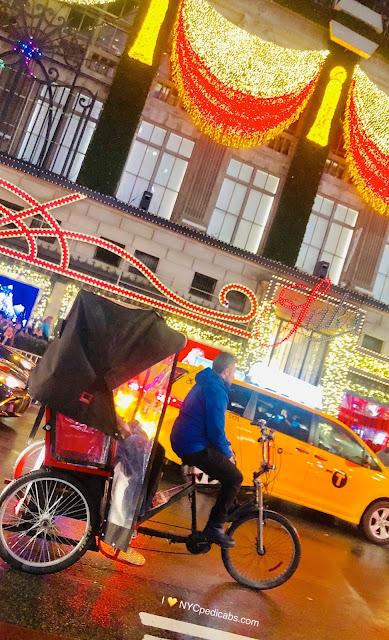 NYC Christmas Lights Pedicab Rickshaw Tours
