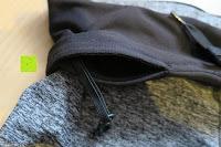 Tasche mit Haken: Laufhose Damen capri mit Hüfttasche für Handy Leggings Fitness Sport tights schwarz muster yoga hose sporthose jogging farbig dreiviertel 3/4 lang von Formbelt