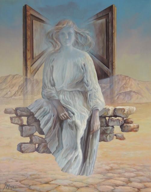José Marí pintura surrealista arte mujer