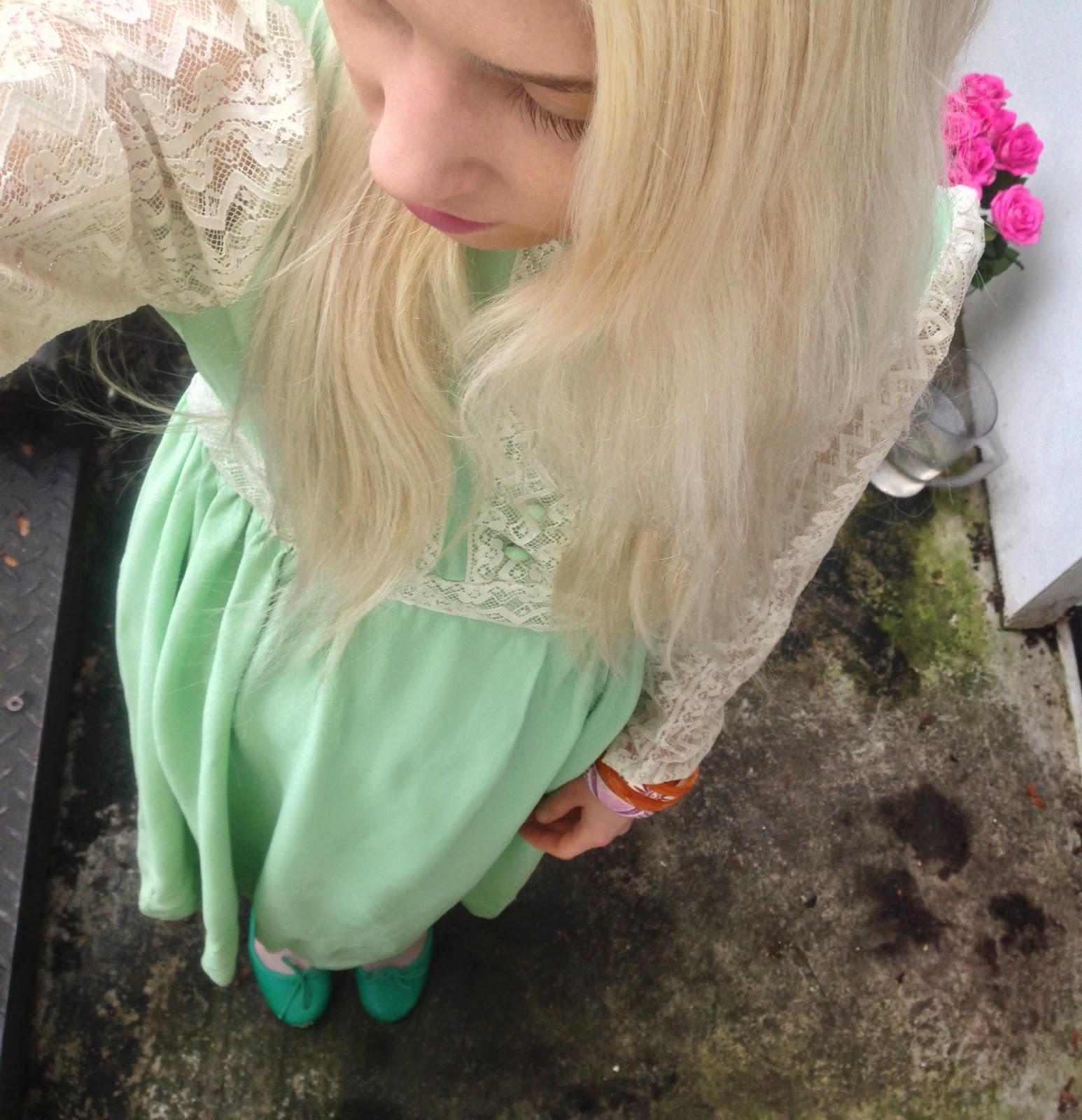 A vintage dress from etsy and its soulrust shop