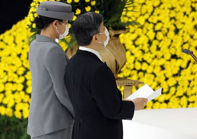 Emperor Naruhito and Empress Masako attended the National Memorial Ceremony at Nippon Budokan Hall in Tokyo