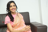 Actress Ritu Varma Pos in Beautiful Pink Anarkali Dress at at Keshava Movie Interview .COM 0323.JPG