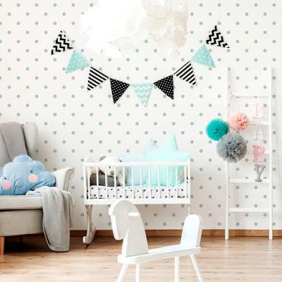 habitacion infantil empapelada con la referencia 043 de papelpintadoonline.com