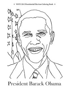 Vote 2012 Presidential Election Coloring Book President Barack