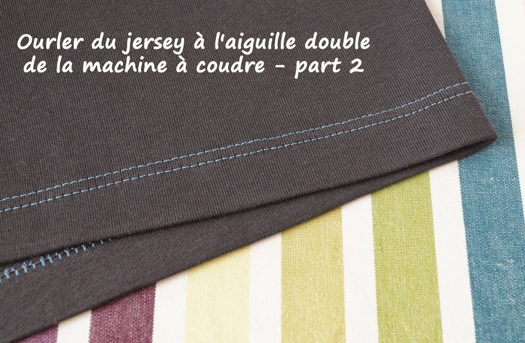 ourlet double à la machine à coudre