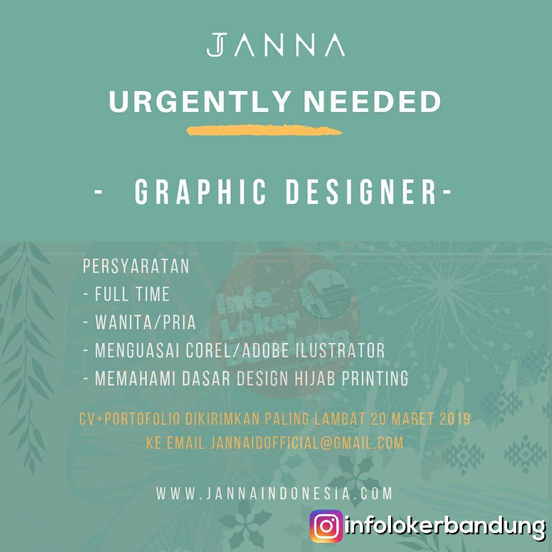 Lowongan Kerja Graphic Designer Janna ID Bandung Maret 2019