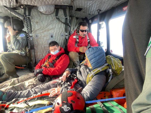Andinista rescatado