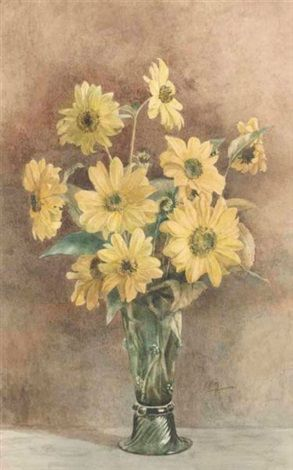 Still life with daisies. Anna Airy