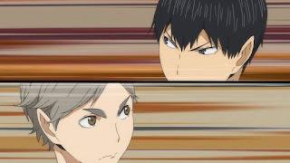 ハイキュー!! アニメ 3期3話   菅原孝支 Sugawara Koshi   Karasuno vs Shiratorizawa   HAIKYU!! Season3