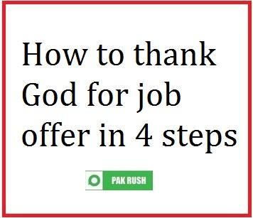 How to thank God for job & job offer