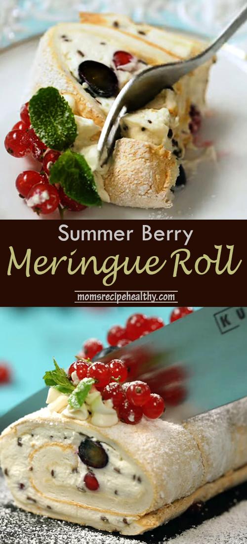 Best Summer Berry Meringue Roll (+video)