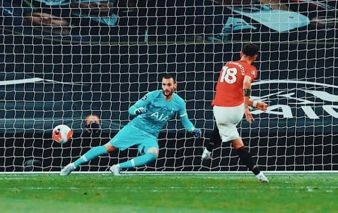 Bruno Fernandes penalty cancels out Steven Bergwijn goal