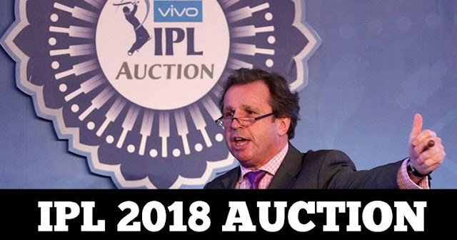 IPL 2018 Mega Auction on January 27 ,28 in Bengaluru
