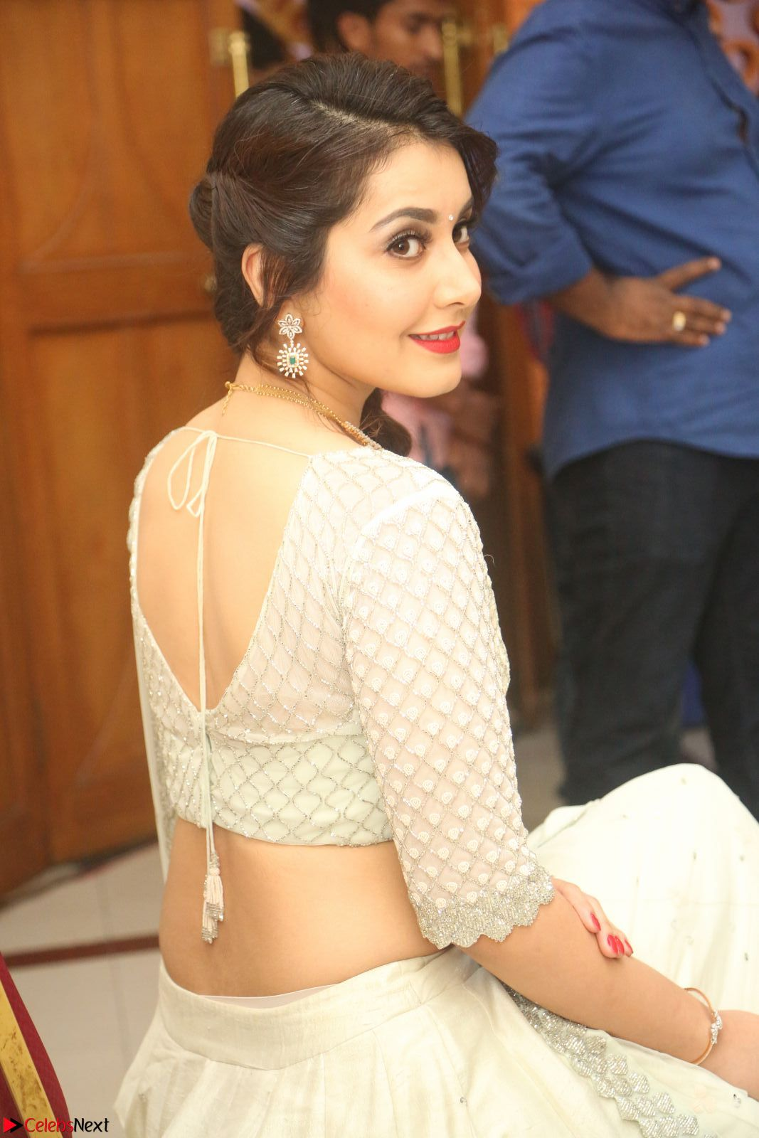 Raashi Khanan looks stunning in Crop Top Deep neck Choli Ghagra Transparent Chunni WOW ~ CelebsNext Exclusive Celebrities Galleries