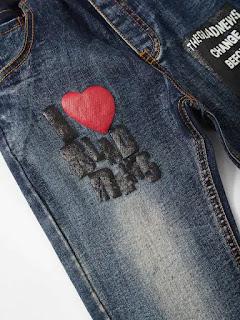 Boys Letter Print Jeans