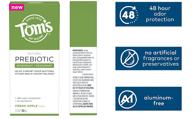Tom's of Maine Prebiotic Natural Deodorant review