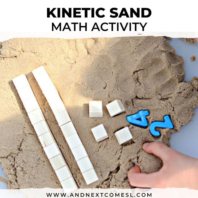 Kinetic sand sensory math activity