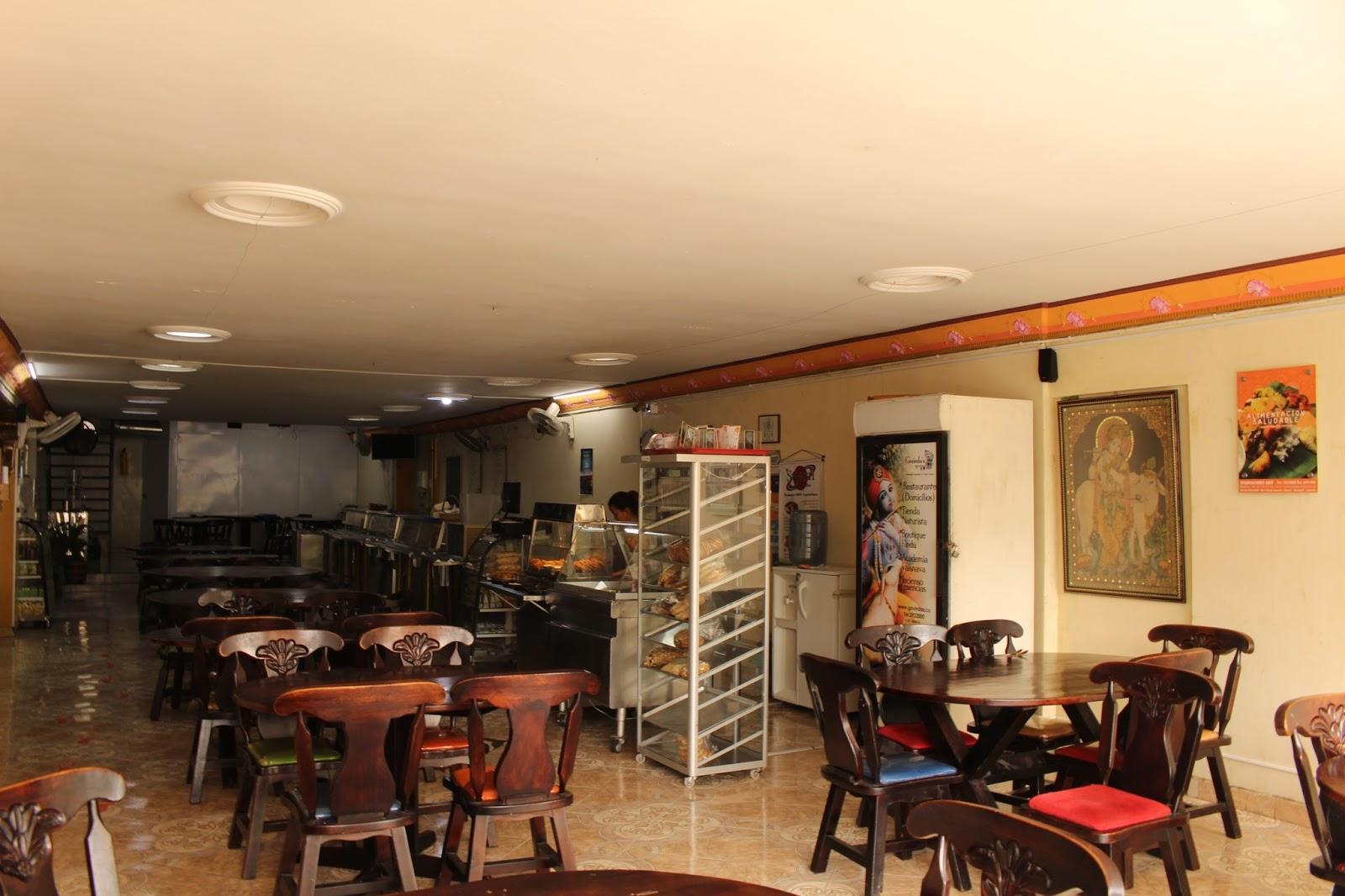 restaurante, govindas, alimentación, saludable